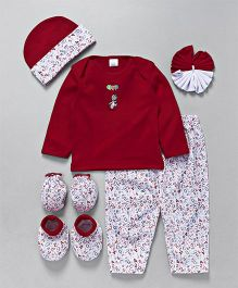 Mee Mee Clothing Gift Set Numbers Print & Balloon Embroidery Pack Of 7 (Color May Vary)