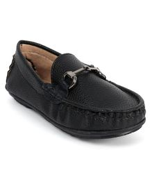 Cute Walk by Babyhug Slip On Loafer Shoes - Black