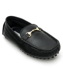 Cute Walk by Babyhug Loafer Shoes - Black