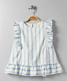 Hugsntugs Stripe Design Top - Blue & White