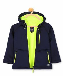 Cherry Crumble California Lightweight Layer Jacket - Navy Blue