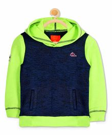 Cherry Crumble California Hooded Sweatshirt - Green & Blue