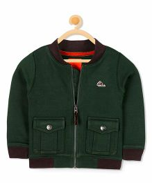 Cherry Crumble California Box Fleece Jacket - Green