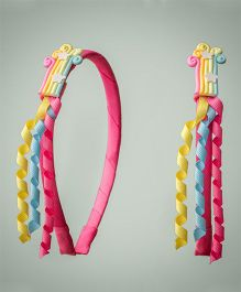 Ribbon Candy Pastel Hairband With Danglers - Multicolour