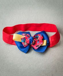 Ribbon Candy Stretch Band With Disney Detachable Bow - Red Blue & Yellow