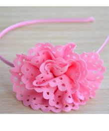Pretty Ponytails Floral Party Hairband - Light Pink & Candy Pink