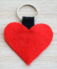 Pretty Ponytails Valentine Love Heart Key Ring - Red