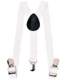 Miss Diva Smart Solid Suspender - White