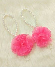 Magic Needles Barefoot Sandals Ruffle Flower - Pink