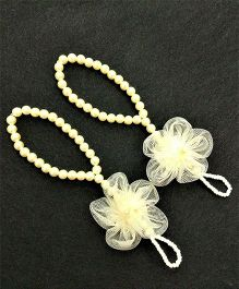 Magic Needles Barefoot Sandals Net Flower - Cream