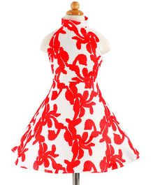 Pre Order - Awabox Flower Printed Dress - Red