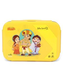 Chhota Bheem Lunch Box With Spoon And Fork(Colour May Vary)