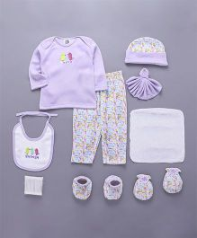 Mee Mee Clothing Gift Set Animal & Bird Design Pack Of 9 - Purple