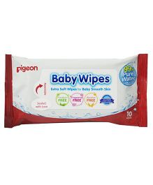 Pigeon Baby Water Base Wipes - Pack of 10 Sheets