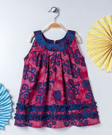 Kids On Board Batik Print Dress - Pink