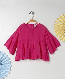Kids On Board Bell Sleeves Tunic - Pink