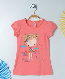 Kids On Board Doll Printed T-Shirt - Pink