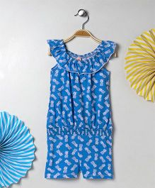Kids On Board Printed Playsuit - Blue