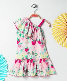Kids On Board Fruit Print Dress - Pink