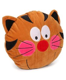 Play Toons Kitty Face Cushion - Brown