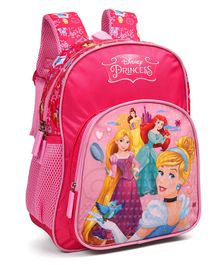 Disney Princess School Bag With Adjustable Straps Pink - 12 Inches