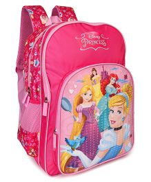 Disney Princess School Bag With Adjustable Padded Straps Pink - 16 Inches