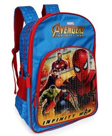 Marvel Avengers School Bag Infinity War Spiderman Print Blue - 18 Inches