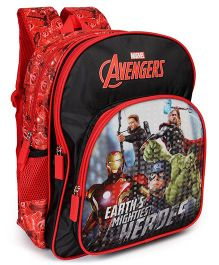 Marvel Avengers Earths Mightiest Heroes School Bag Black Red - 14 Inches