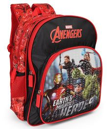 Marvel Avengers Earths Mightiest Heroes School Bag Black Red - 18 Inches