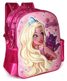 Barbie Sequin School Bag Pink - 14.1 inches