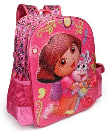 Dora The Explorer School Bag With Adjustable Padded Straps Pink - 14 Inches