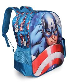 Marvel School Bag Captain America Print Blue - 14 inches