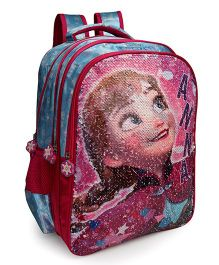 Disney Frozen Anna & Elsa Magic Sequin School Bag Pink - 16 Inches