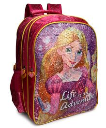 Disney Princess Magic Sequin School Bag Pink - 16 Inches