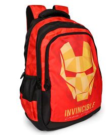 Marvel Iron Man School Bag Invincible Print Red - 19 Inches