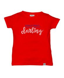 Zeezeezoo Dadi And Dada's Darling Print Organic Tee - Red