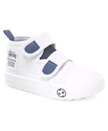 Cute Walk by Babyhug Dual Velcro Canvas Casual Shoes - White