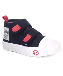 Cute Walk by Babyhug Dual Velcro Canvas Casual Shoes - Black