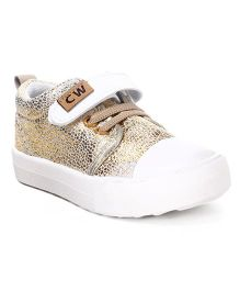Cute Walk by Babyhug Canvas Shoes Shimmer Detail - Golden