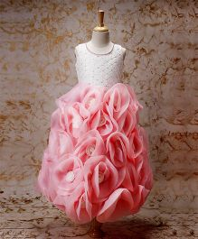 Enfance Rose Design Party Wear Gown - Pink