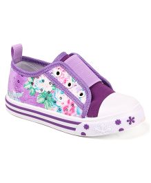 Cute Walk by Babyhug Floral Design Casual Shoes - Purple