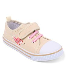 Cute Walk by Babyhug Heart Design Casual Shoes - Peach