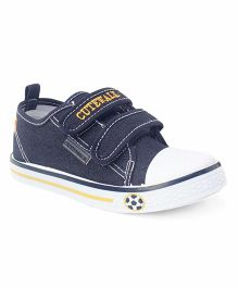 Cute Walk by Babyhug Dual Velcro Canvas Shoes - Navy Blue