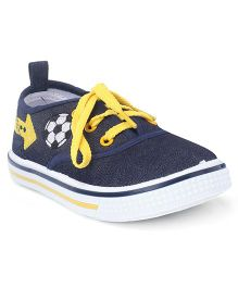 Cute Walk by Babyhug Lace Up Casual Canvas Shoes - Navy
