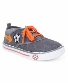 Cute Walk by Babyhug Lace Up Casual Canvas Shoes - Grey