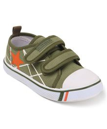 Cute Walk by Babyhug Casual Canvas Shoes - Olive Green