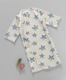 Dear Tiny Baby Strar Printed Shirt Extra Long - Cream