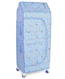 Mothertouch 4 Shelves Storage Unit With Wheels Multiprint - Blue