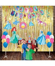 Party Propz Princess Combo Birthday Decoration Set - Pink & Multicolor