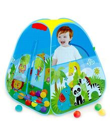 Emob Easy Foldable Play Tent With 40 Colourful Balls - Multicolour